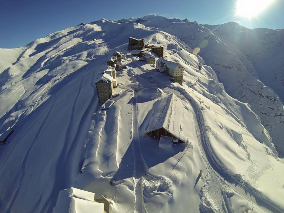 Valle Nevado looking good from above last week. Photo courtesy of Valle Nevado Ski Resort.
