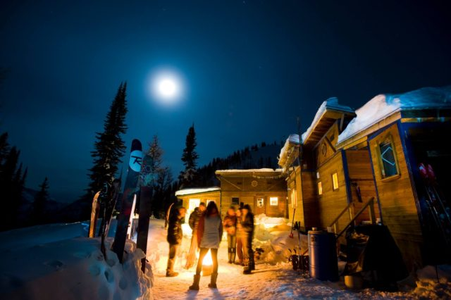 The views from the lodge are spectacular during the daylight hours. But it doesn't look so shabby by moonlight either. PHOTO: Courtesy of Eugene Buchanan