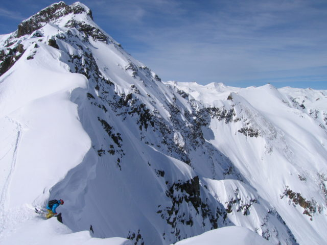 Pep Fujas drops into Silverton's steeps. PHOTO: Courtesy of Silverton Mountain