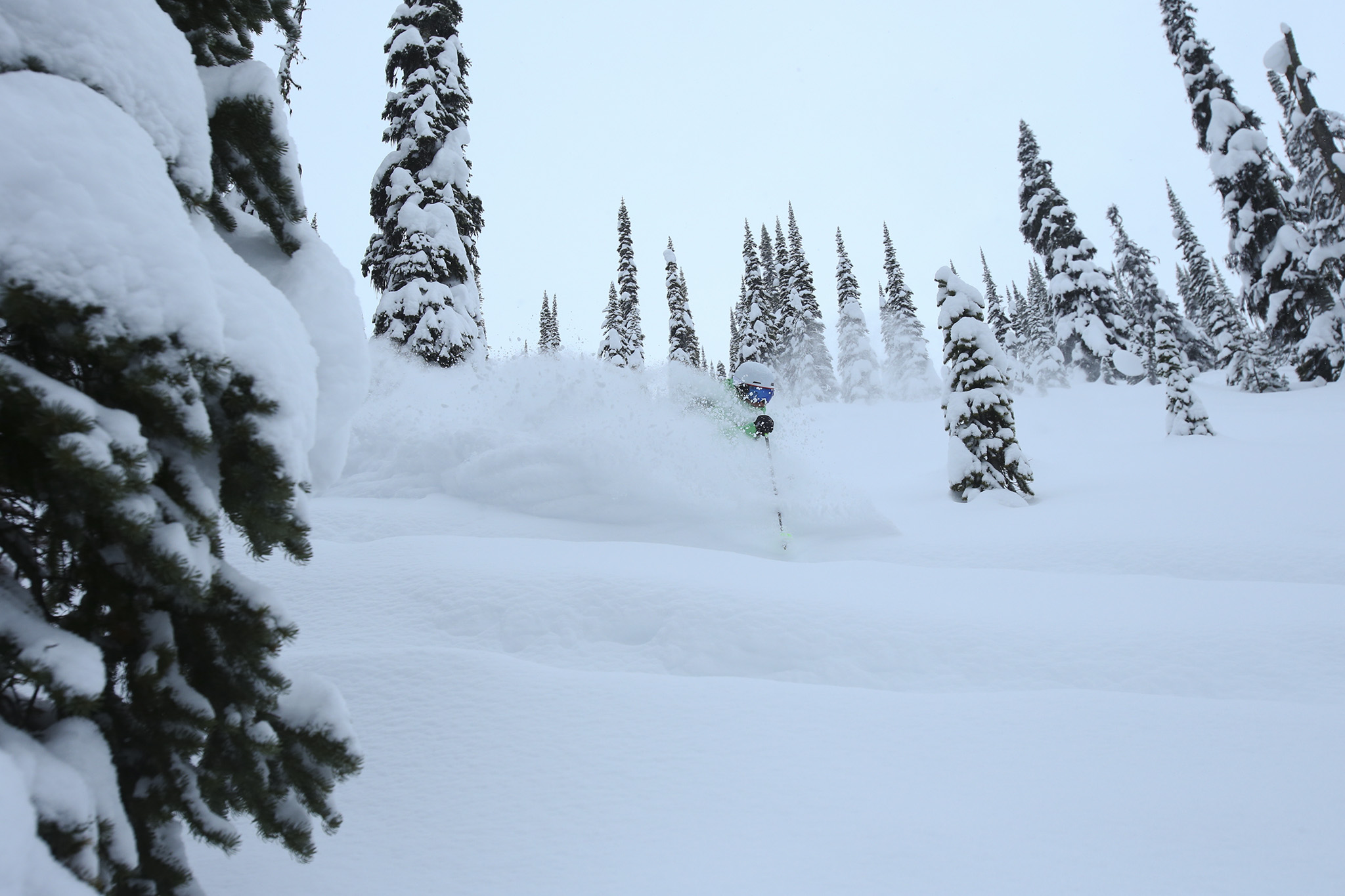 Christina Lusti, Sunsrise Lodge, Esplanade Range, BC, Canada photo:Adam Clark