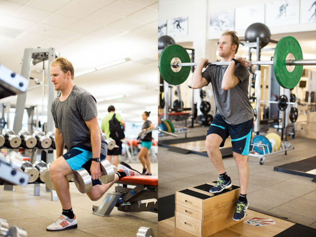 Ligety spends six days a week in the gym at the Center of Excellence in Park City. PHOTO: Sarah Brunson/USSA
