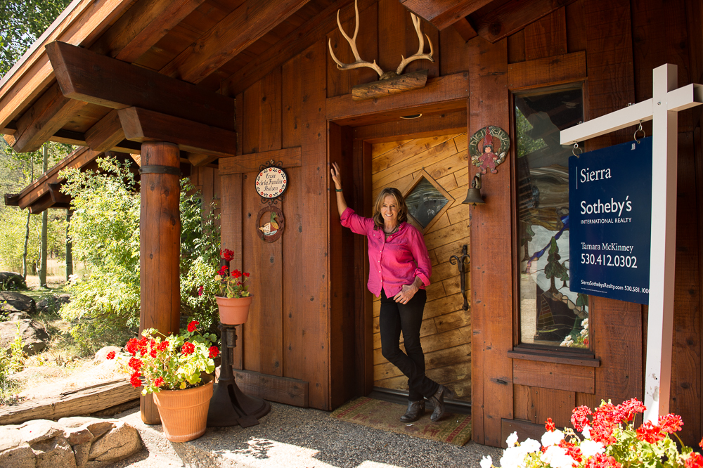 McKinney, seen here at the Paulsen Ranch, a property she is selling in Olympic Valley, California. PHOTO: Hank De Vré