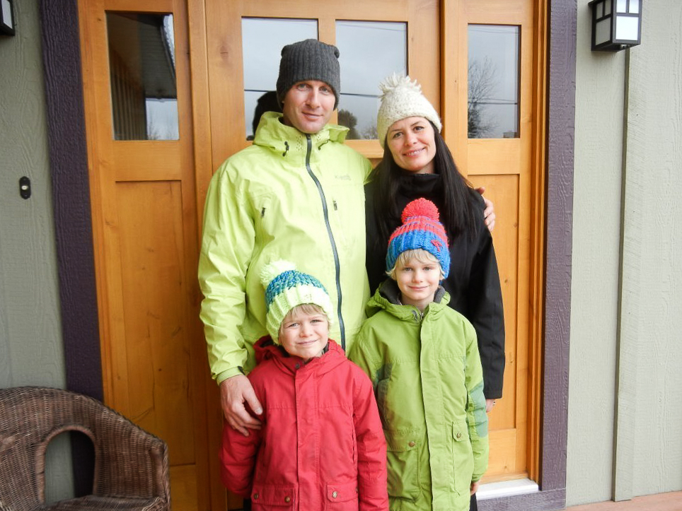 Sheppard slows down with his family at their Bed and Breakfast, the Snowdrifters Guest House, located in Revelstoke. PHOTO: Courtesy of Andrew Sheppard