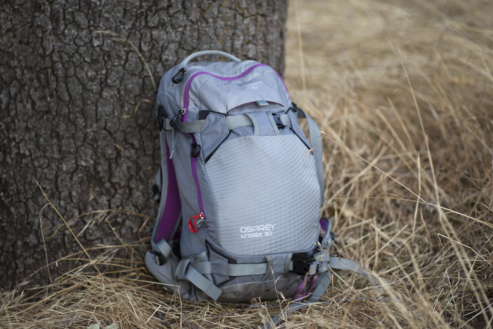 The Osprey Kresta 30L is a solid option for ladies who shred in the backcountry. PHOTO: Maggie Kaiserman
