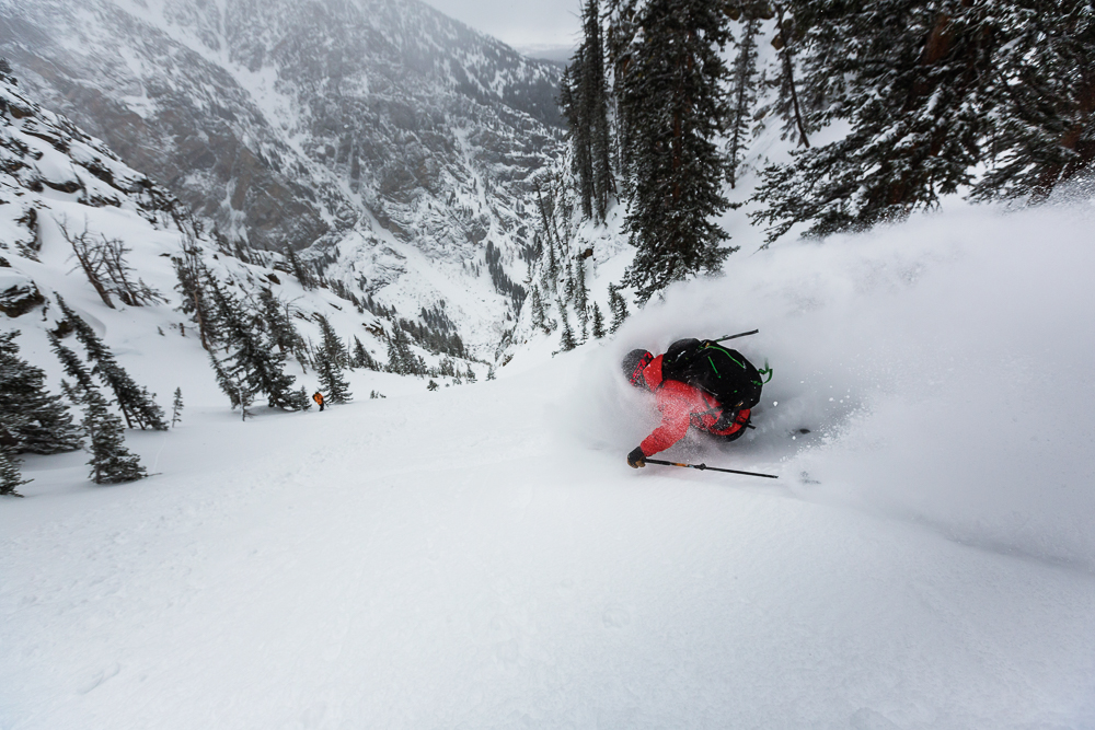 All author Matt Hansen wants to do is ski powder with his friends. The Tetons are a pretty good place to do that. PHOTO: Mark Fisher