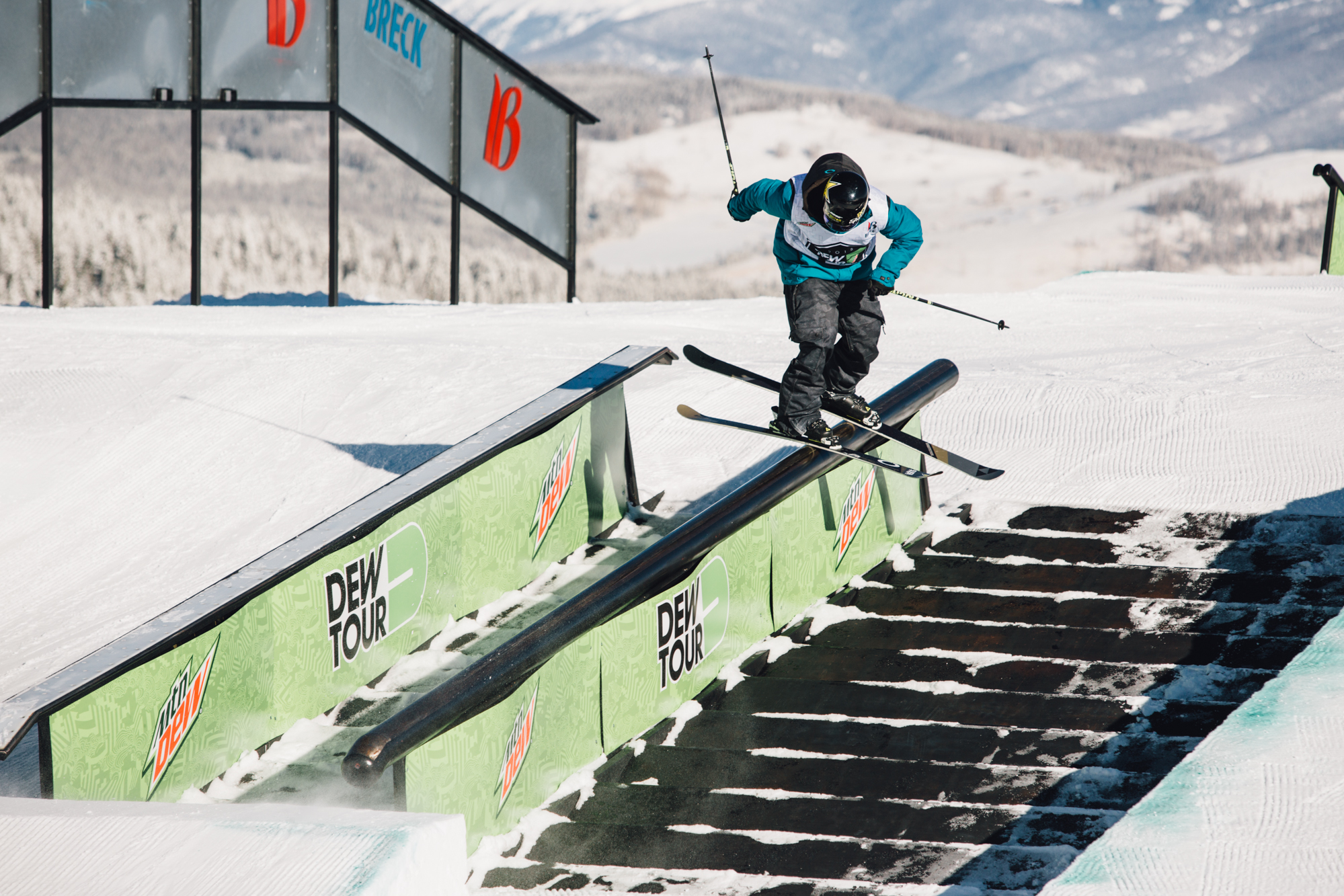 Joss Christensen during the men's slopestyle event at Breckenridge's Dew Tour. PHOTO: Dew Tour