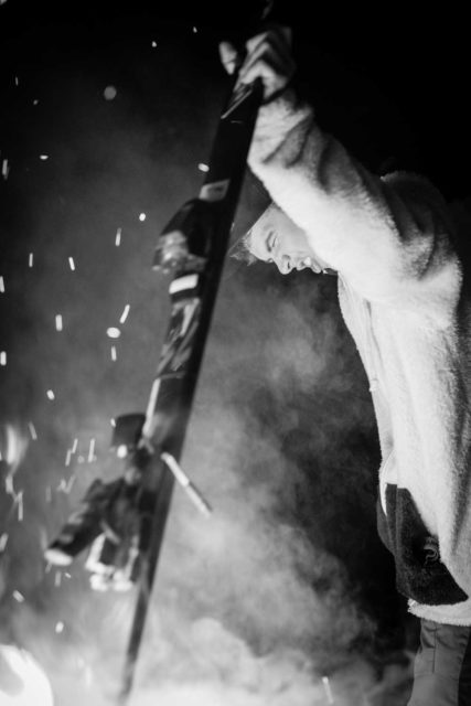 Burning one down for the big Ullr. PHOTO: Jesse Levine