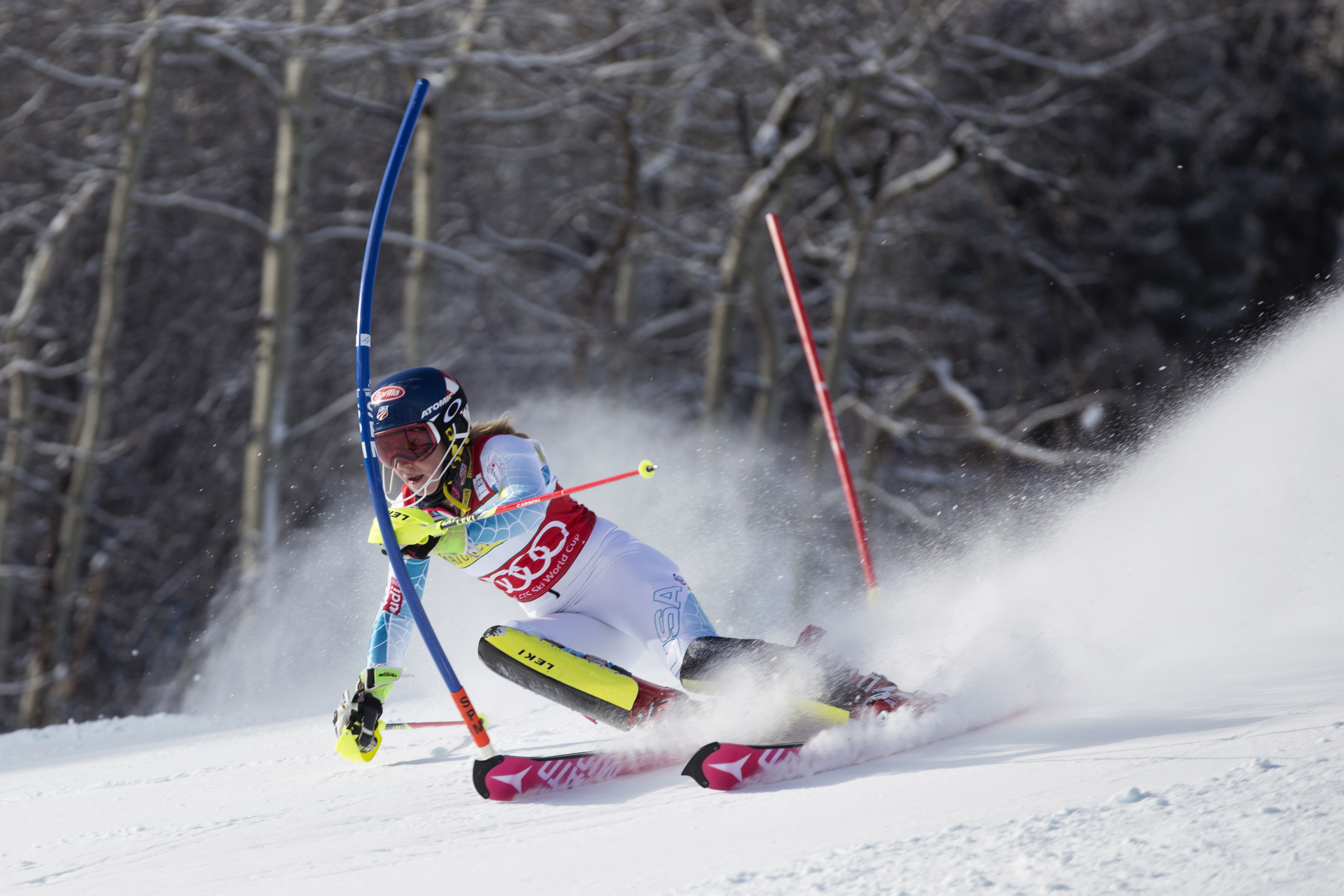 Mikaela Shiffrin could pull off a rare double-win in both GS and Slalom races. PHOTO: Courtesy of US Ski Team