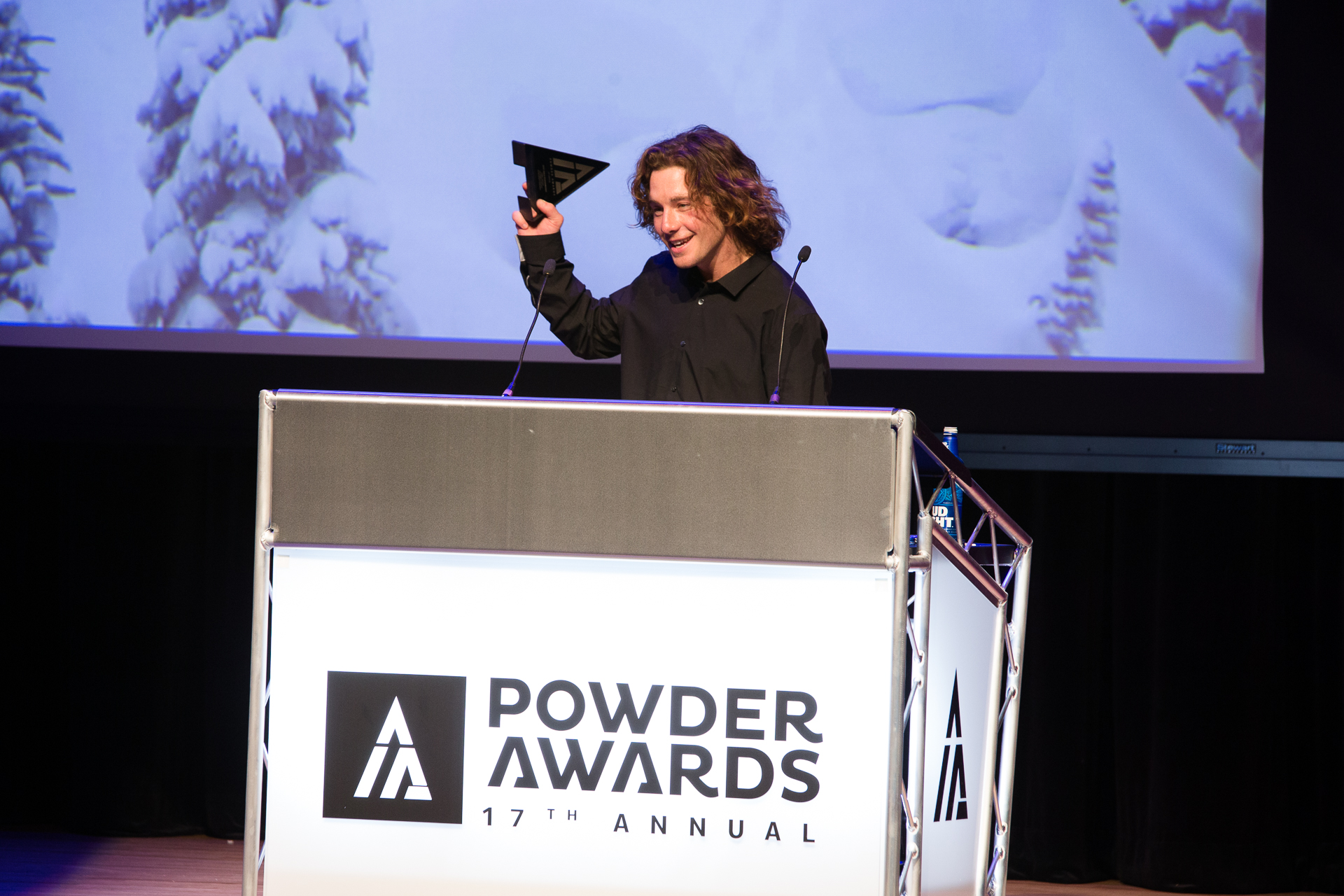 Powder Awards. Best Powder. Sammy Carlson. Photo: Liam Doran