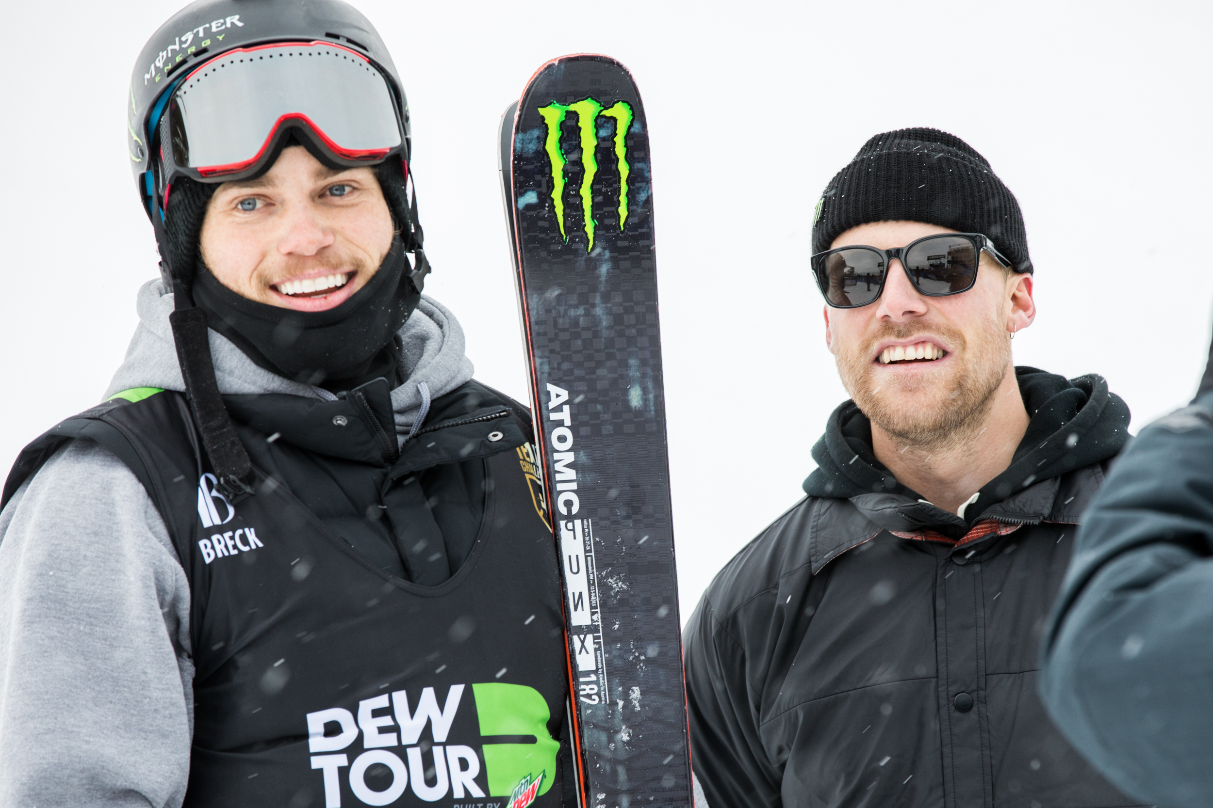 Gus Kenworthy and Jossi Wells were all smiles at the end of the team competition.
