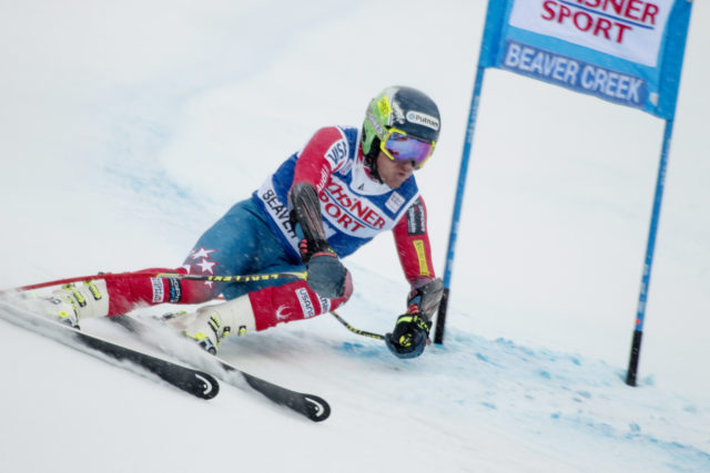 Ted Ligety (pictured at last season's Beaver Creek race) and Austria's Marcel Hirscher will be battling France's Alexis Pinturault and Thomas Fanara for the GS title at Val d'Isere. PHOTO: US Ski Team
