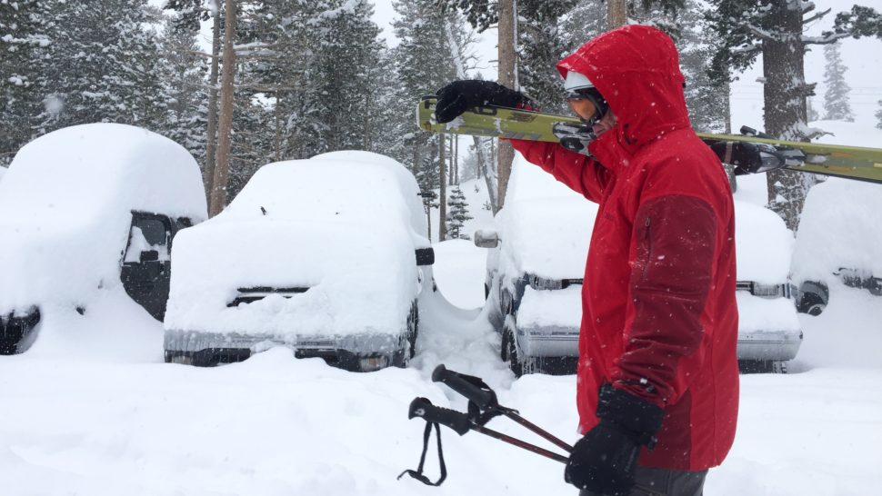 Shoot. Did anyone pack a shovel? Mammoth received 154 inches this week alone–and counting.