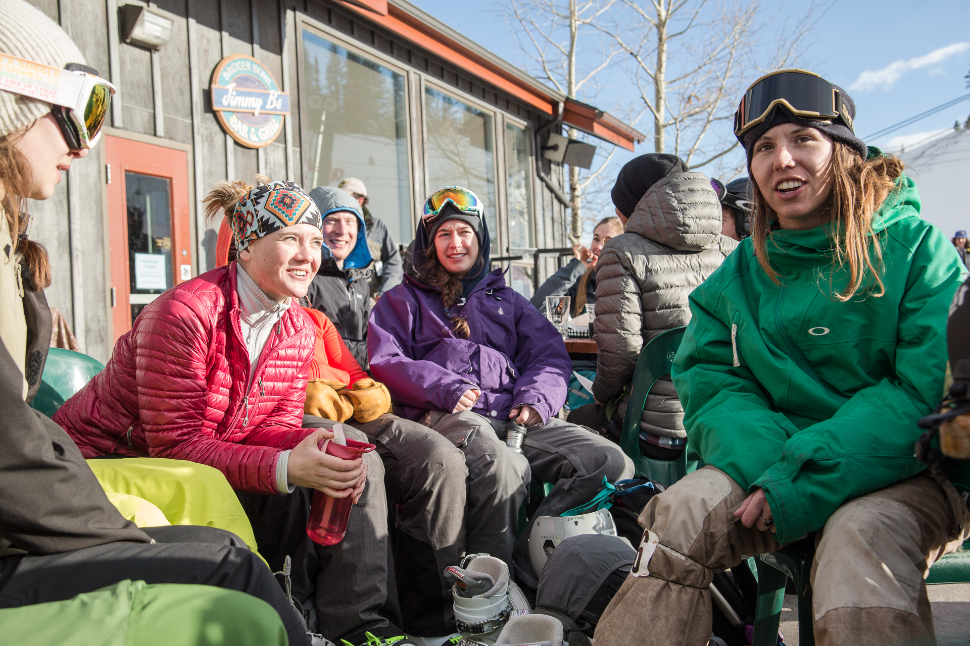Andie Creel, MacKenzie Lisac, and their crew at Bridger are living the good life. PHOTO: Jason Thompson