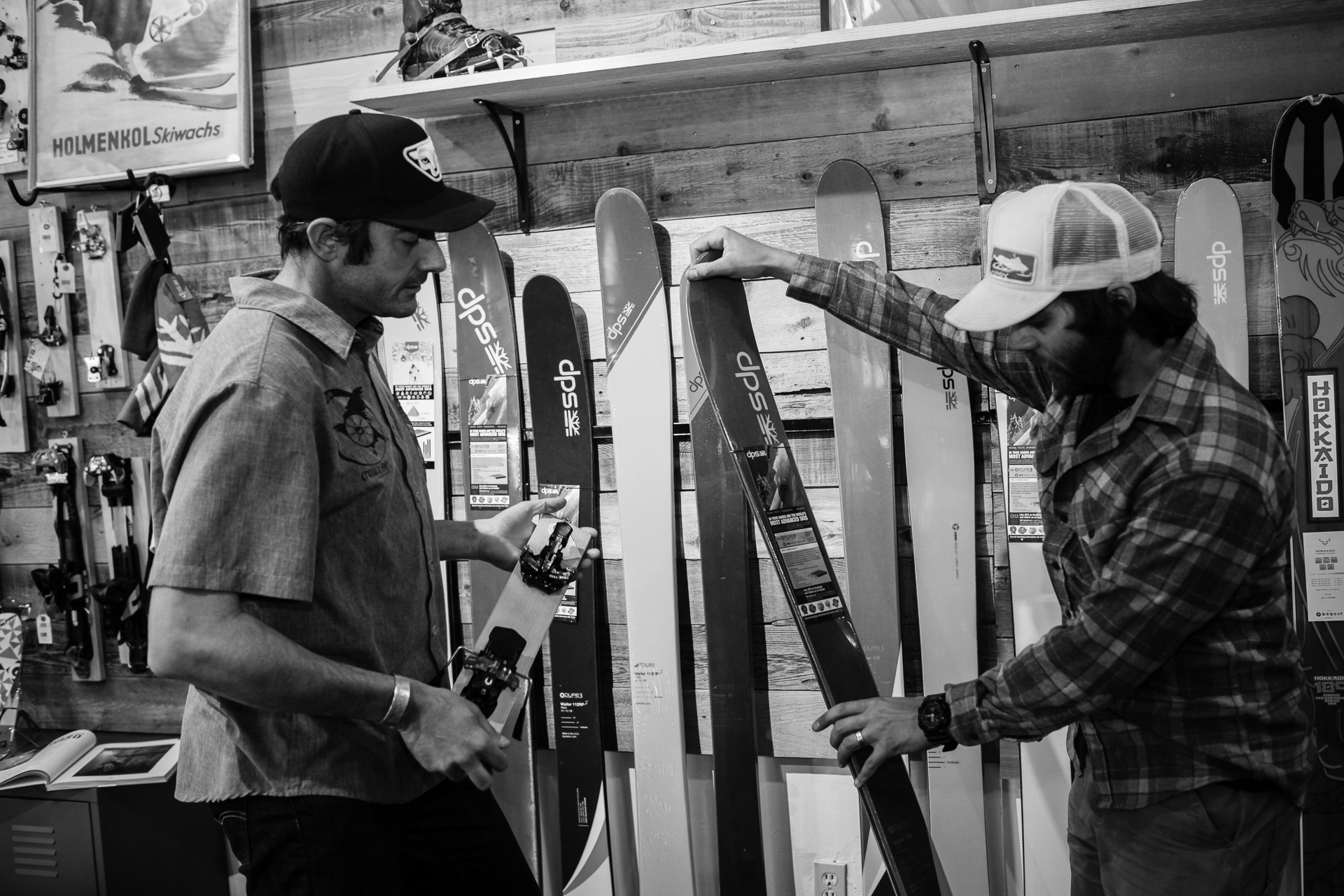 One more thing: Talking gear with an actual human being. PHOTO: Louisa Moratti