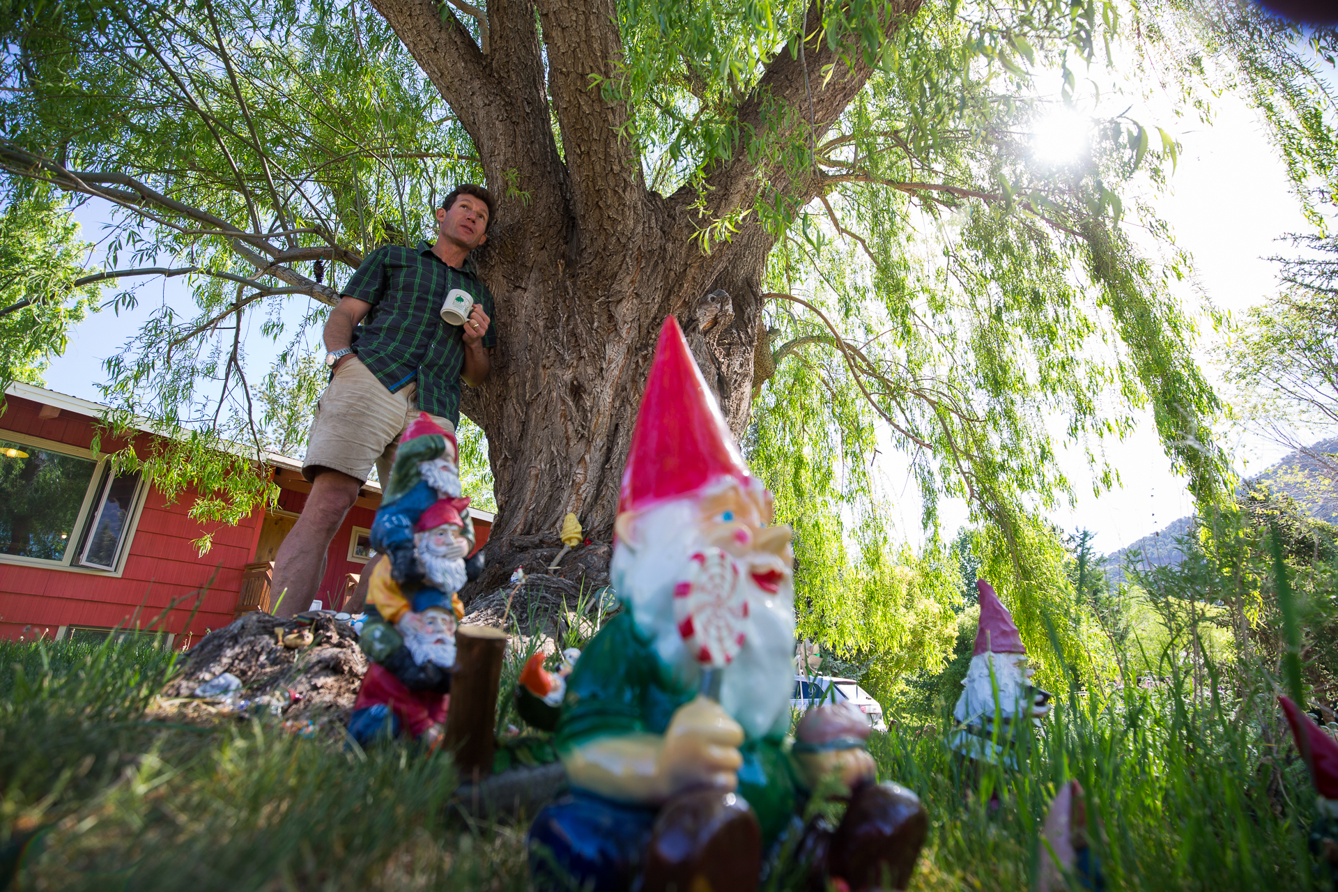 Schendler feels compelled to work on climate, though he'd prefer to just hang out in Gnome Building Zones. PHOTO: Tom Zuccareno