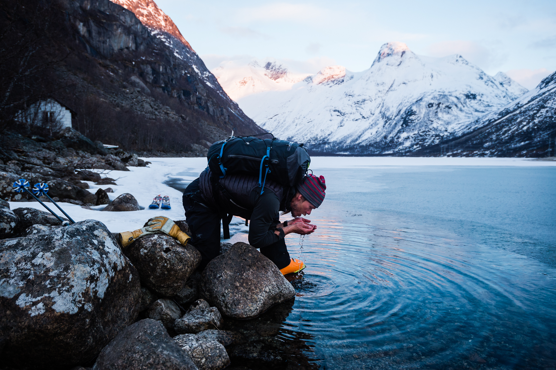 Chad Sayers in the abundant natural resources of Northern Norway.
