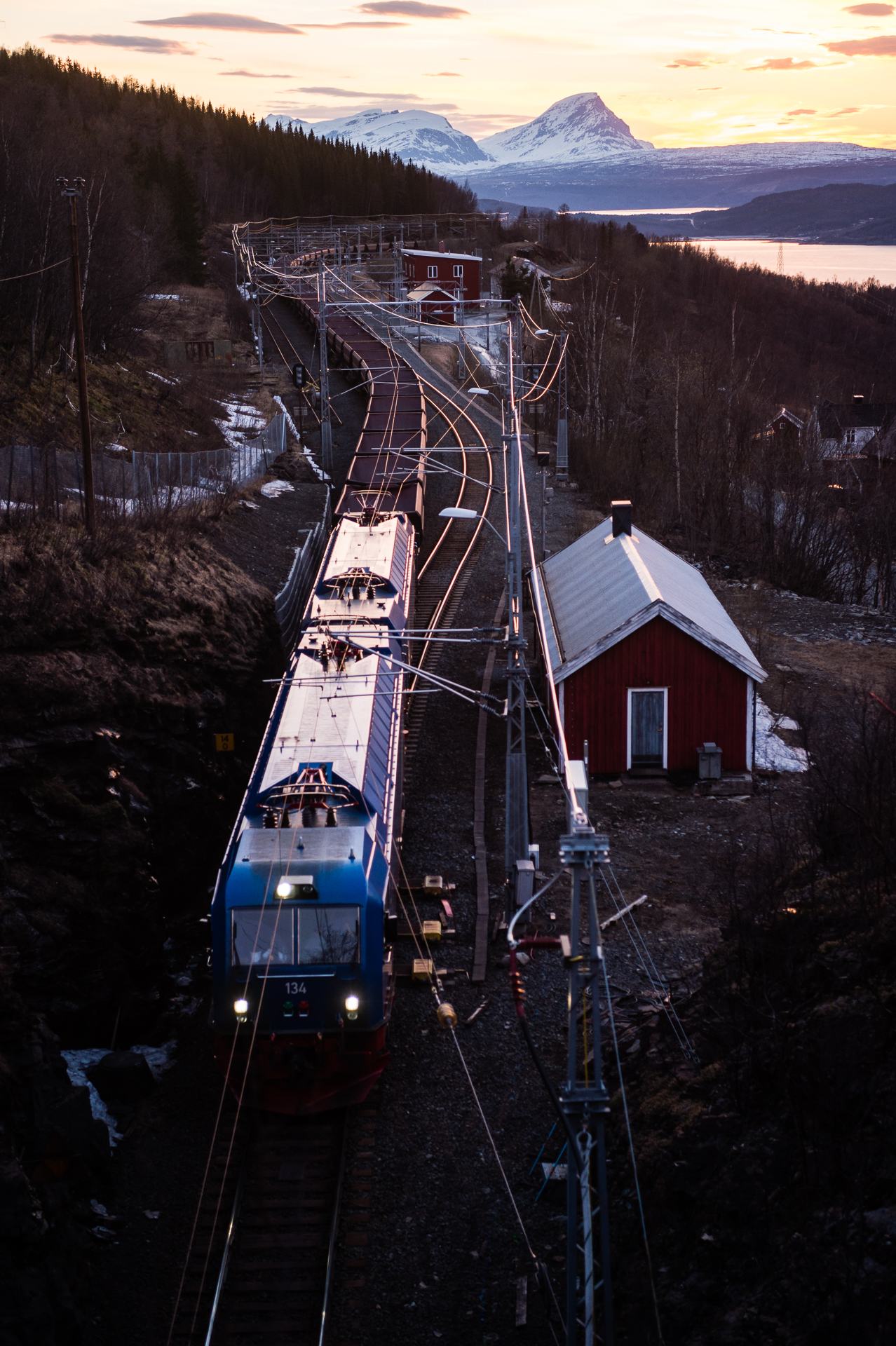 Narvik is inextricably linked to World War II because of the 68,000 tons of iron ore that arrives every day on electric trains from Sweden.