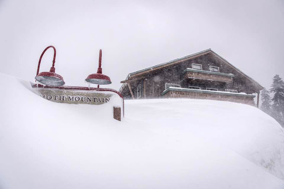 There goes the lodge... PHOTO: Mammoth Mountain