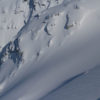 Martha Hunt skiing perfect powder in West Greenland.