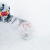 Andrew Whiteford blazes through two feet of new snow inbounds at Jackson Hole Mountain Resort.